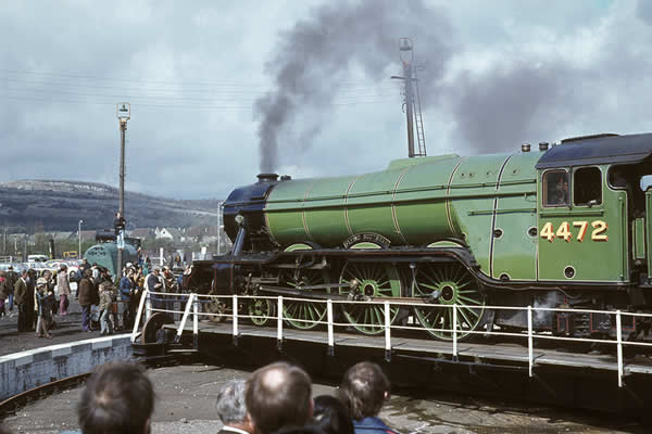 Flying Scotsman at Carnforth Lancashire in 1974. (Image ref: 10450472)